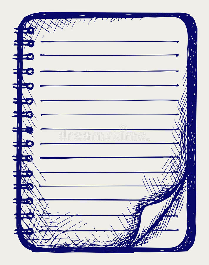 Papier avec le cahier illustration stock