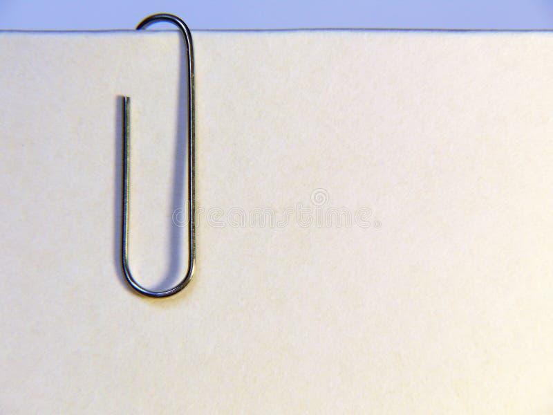 Papier avec le clip photographie stock