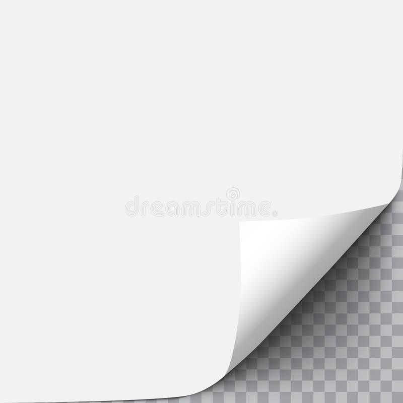 Papier avec le coin de boucle illustration libre de droits