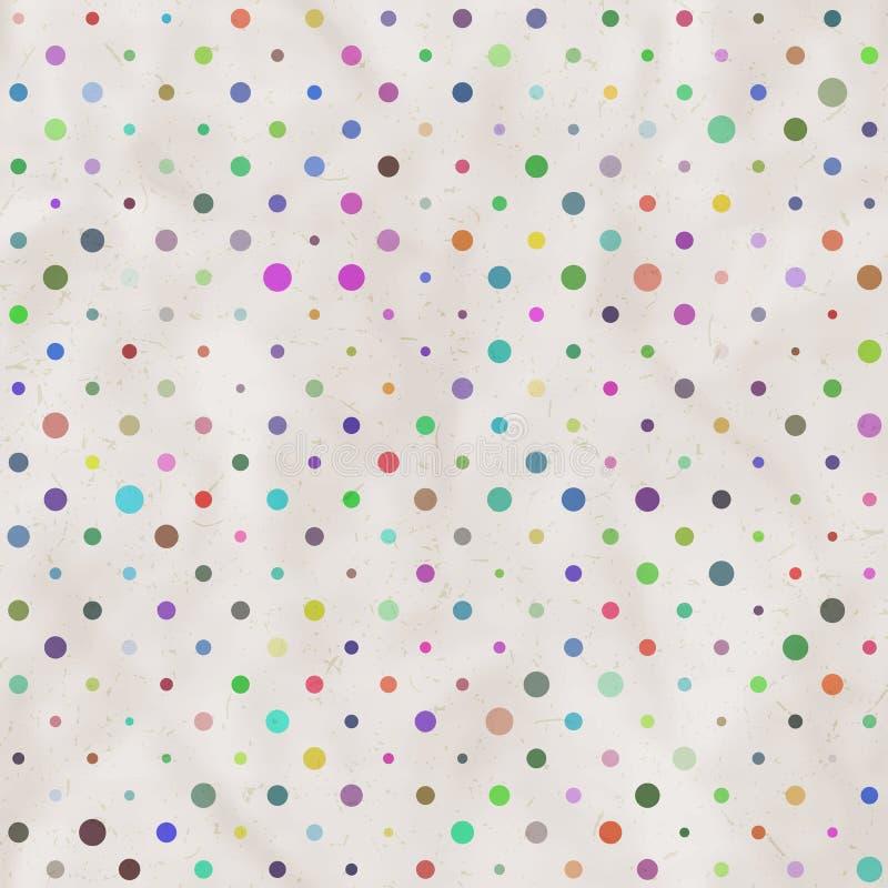 Papier avec le fond de points de polka photos stock