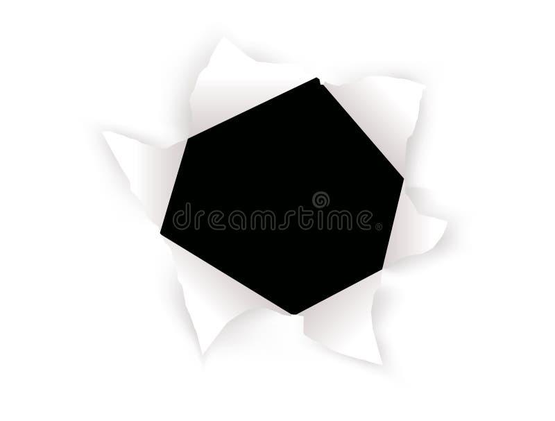papier avec le trou illustration stock