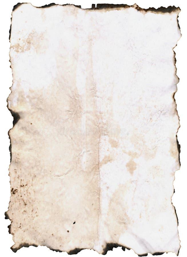 Papier avec les bords brûlés photos libres de droits