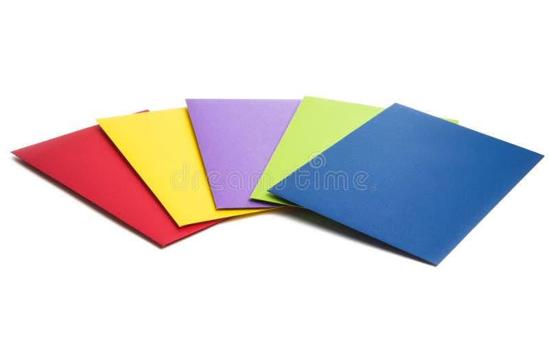 papier barwić koperty odizolowywać zdjęcia stock