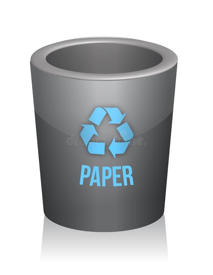 Papier bereiten trashcan auf vektor abbildung