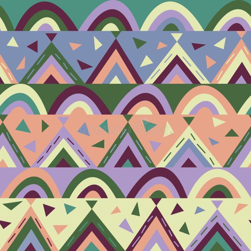 Papier-besnoeiing geometrische textuur voor jonge geitjes royalty-vrije illustratie