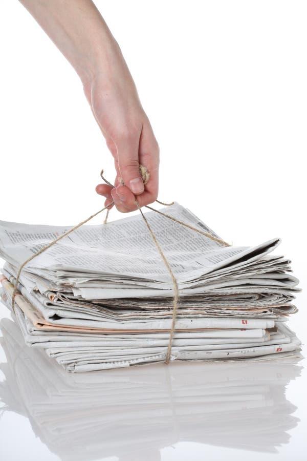 Papier betriebsbereit zur Wiederverwertung lizenzfreie stockbilder
