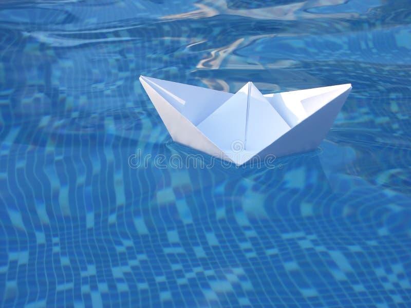papier biała łódź obraz stock