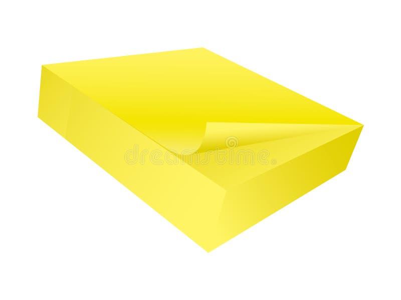 papier blanc de bloc - notes collant illustration de vecteur