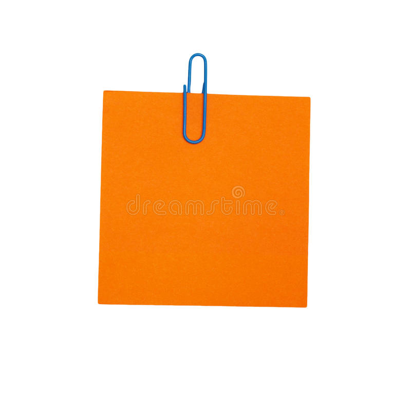 Papier blanc orange photographie stock