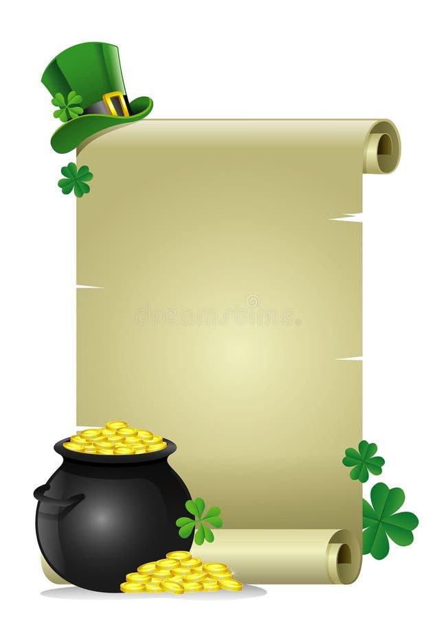 Papier blanc pour le texte du concept du jour de St Patrick illustration de vecteur