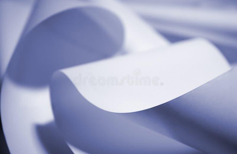 Papier bleu image libre de droits