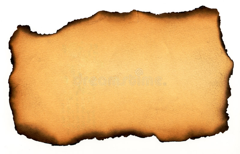 Papier brûlé photo stock