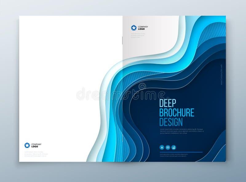 Papier broszurki rżnięty projekt Papier rzeźbi abstrakt pokrywę dla broszurki ulotki magazynu sprawozdania rocznego lub katalogu  royalty ilustracja