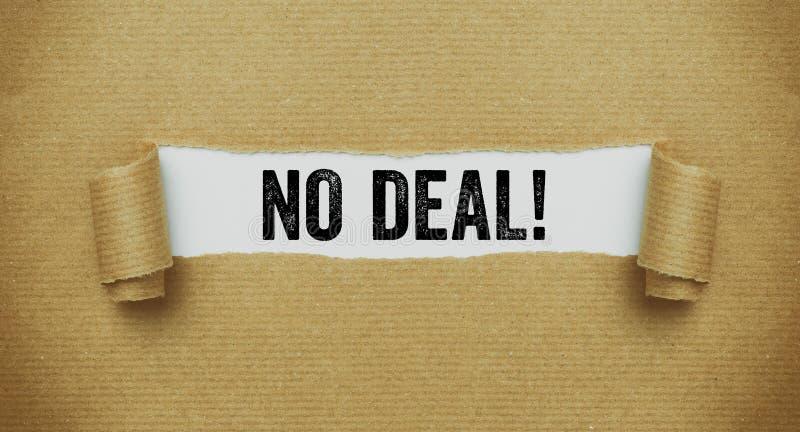 Papier brun déchiré indiquant les mots aucune affaire images libres de droits