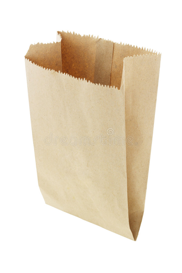 papier brun de sac image libre de droits