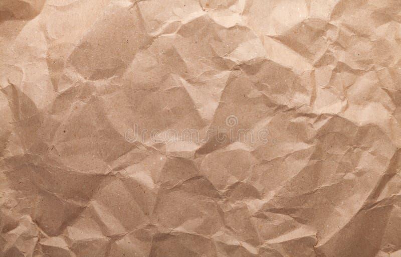 Papier brun fripé de carton photo libre de droits