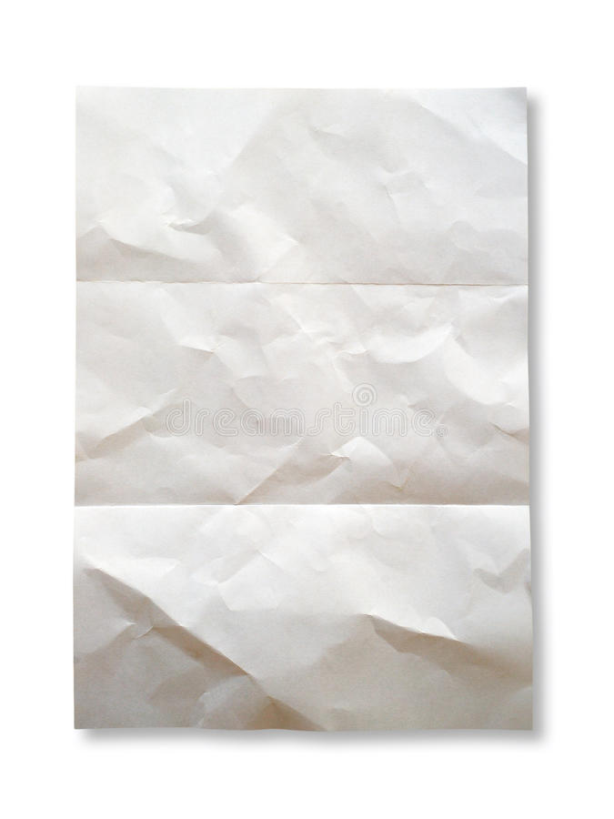 Papier chiffonné photo stock