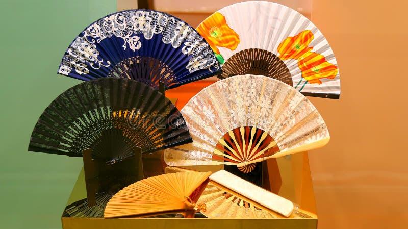 papier chinois de ventilateurs image libre de droits