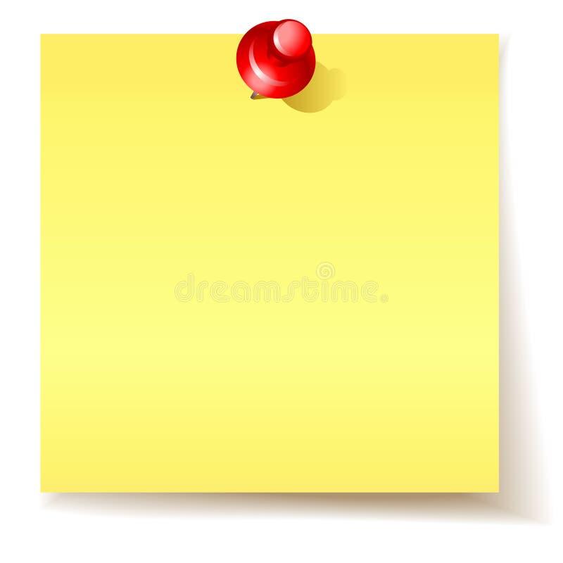 Papier collant jaune illustration libre de droits