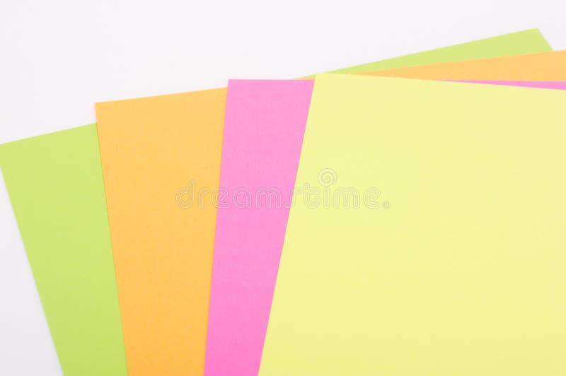 Papier coloré images libres de droits