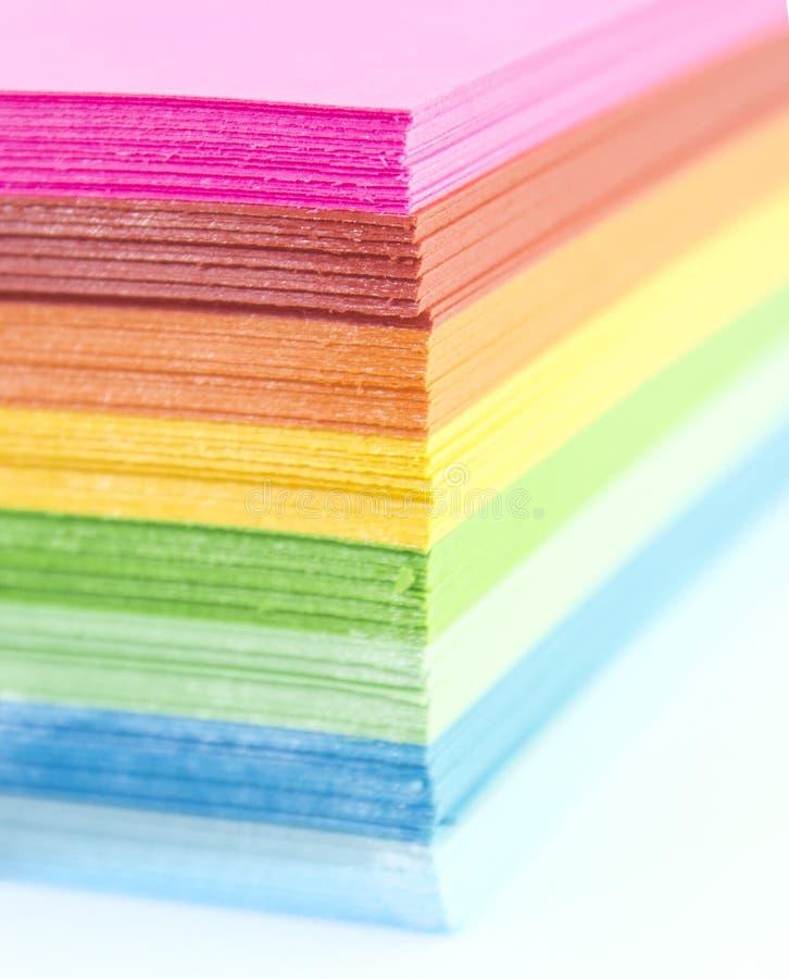 Papier coloré photo libre de droits