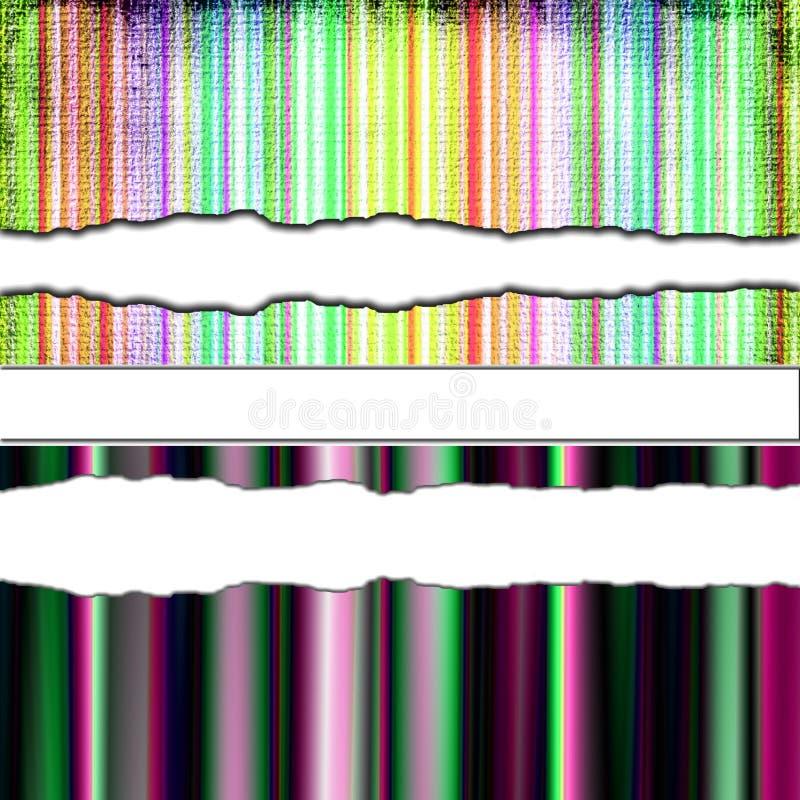 papier coloré déchiré illustration de vecteur