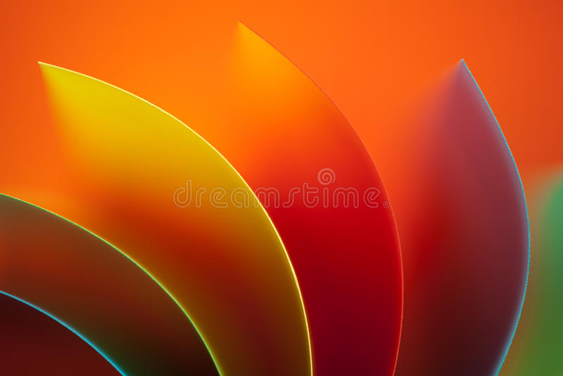 Papier coloré d'abstrait sur le fond orange photo libre de droits