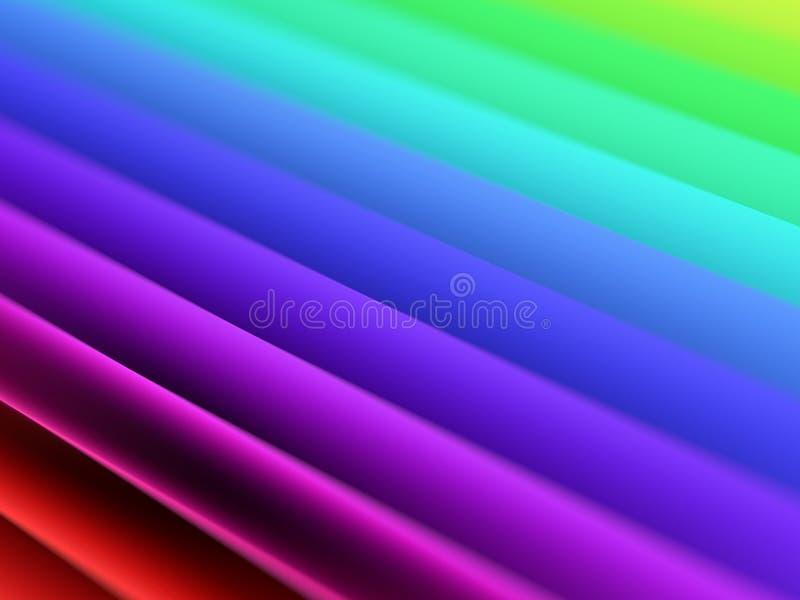 Papier coloré d'arc-en-ciel Résumé coloré illustration de vecteur