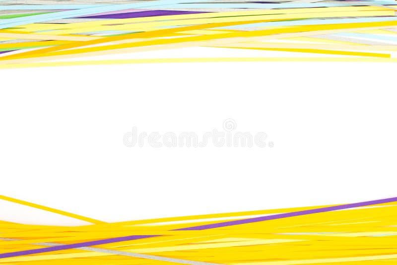 Papier coloré d'isolement sur le blanc photographie stock libre de droits