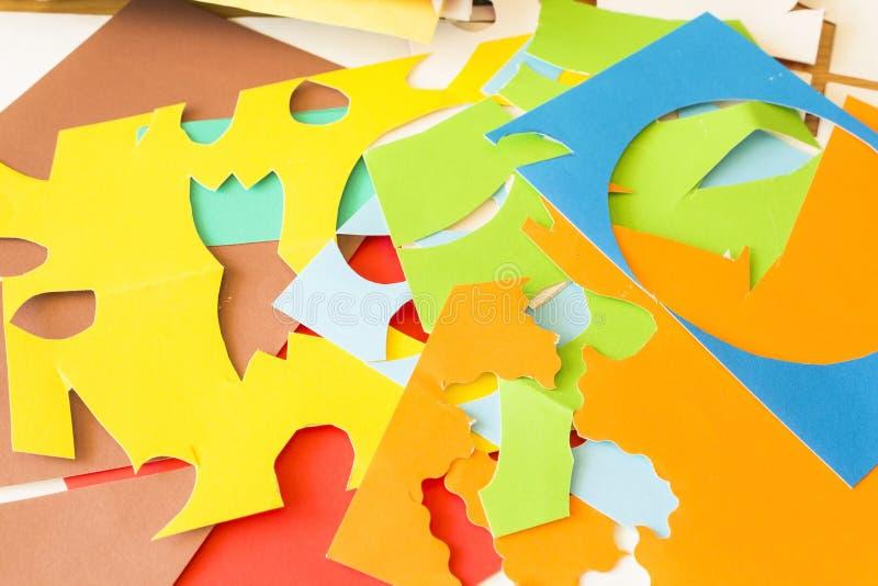 Papier coloré de collage images libres de droits