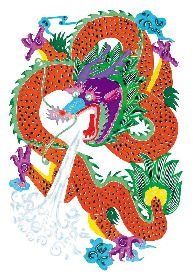 Papier-coupez le dragon photos stock