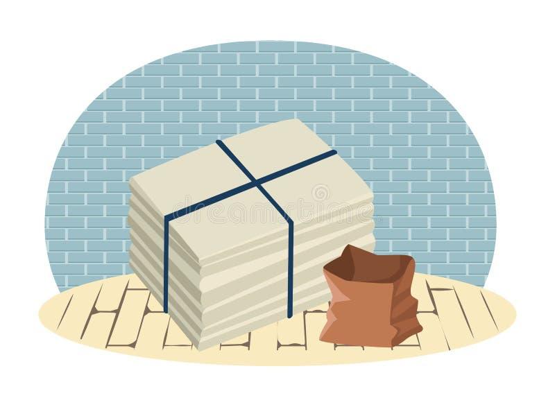 Papier cumujący i torba papier ilustracja wektor