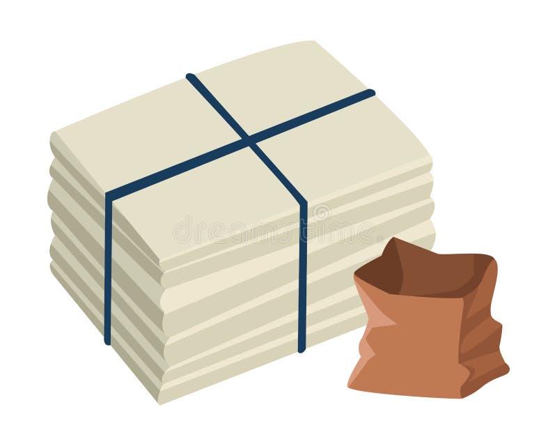 Papier cumujący i torba papier ilustracji
