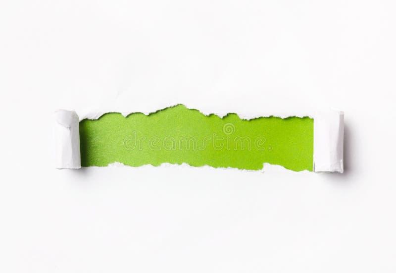 Papier déchiré avec l'espace images stock