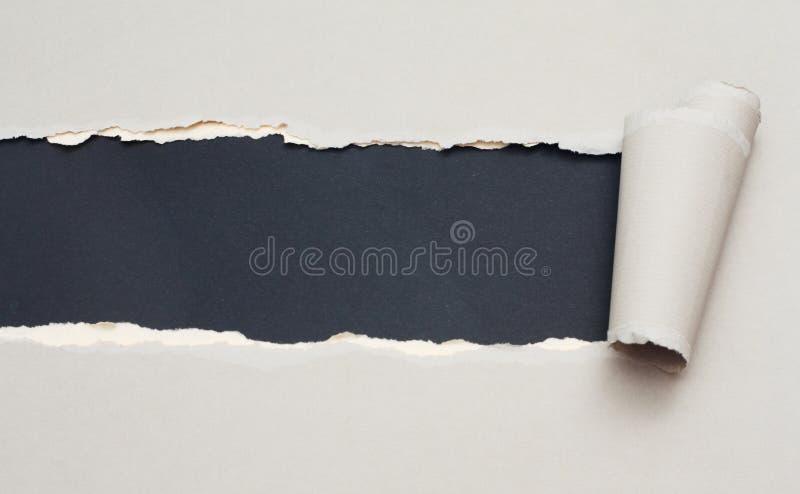 Papier déchiré avec l'espace pour le texte photos libres de droits