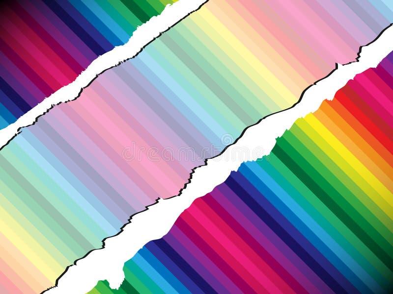 Papier déchiré coloré illustration de vecteur