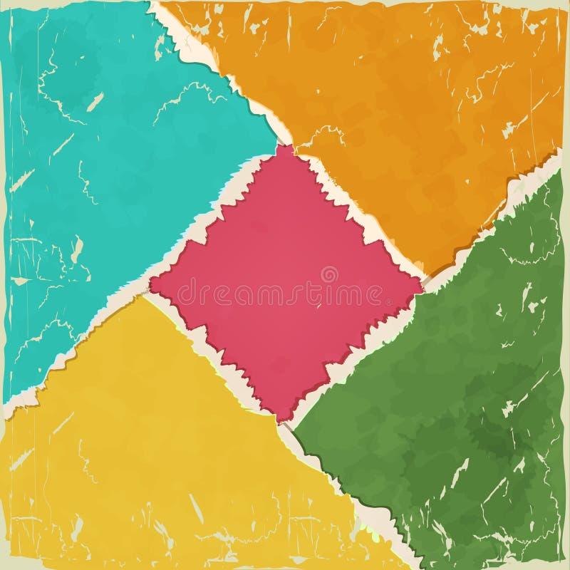 Papier déchiré coloré illustration libre de droits
