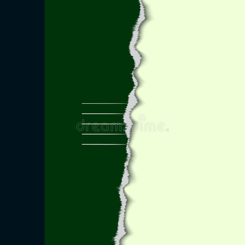 Papier déchiré coloré par éléments de conception illustration stock