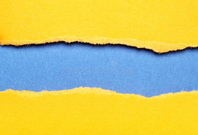Papier déchiré de couleur photos libres de droits