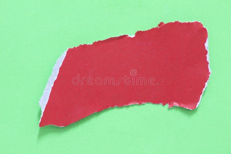 Papier déchiré de déchirure image stock