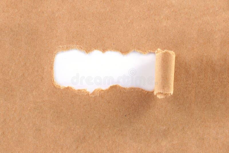 Papier déchiré par Brown images libres de droits