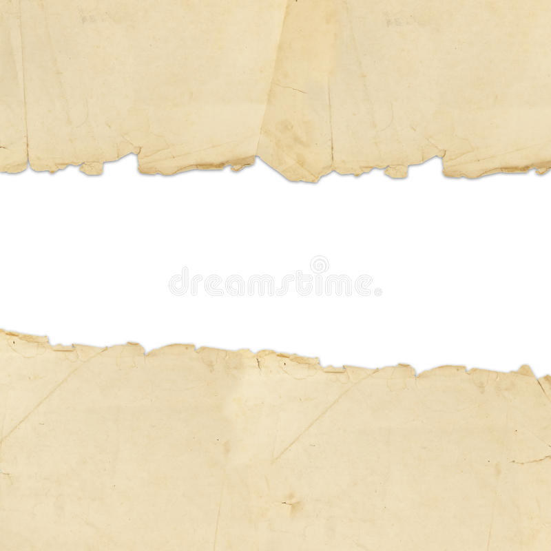 Papier déchiré par cru photographie stock