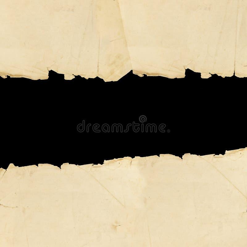 Papier déchiré par cru images libres de droits