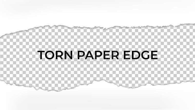 Papier déchiré par vecteur avec les bords déchirés Conception de maquette de calibre illustration stock