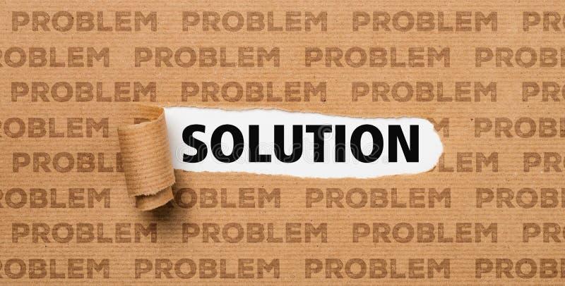 Papier déchiré - solution ou problème images stock