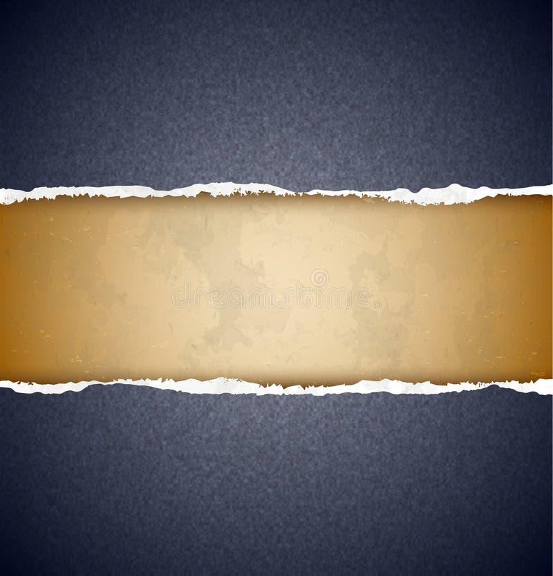 Papier déchiré texturisé illustration de vecteur