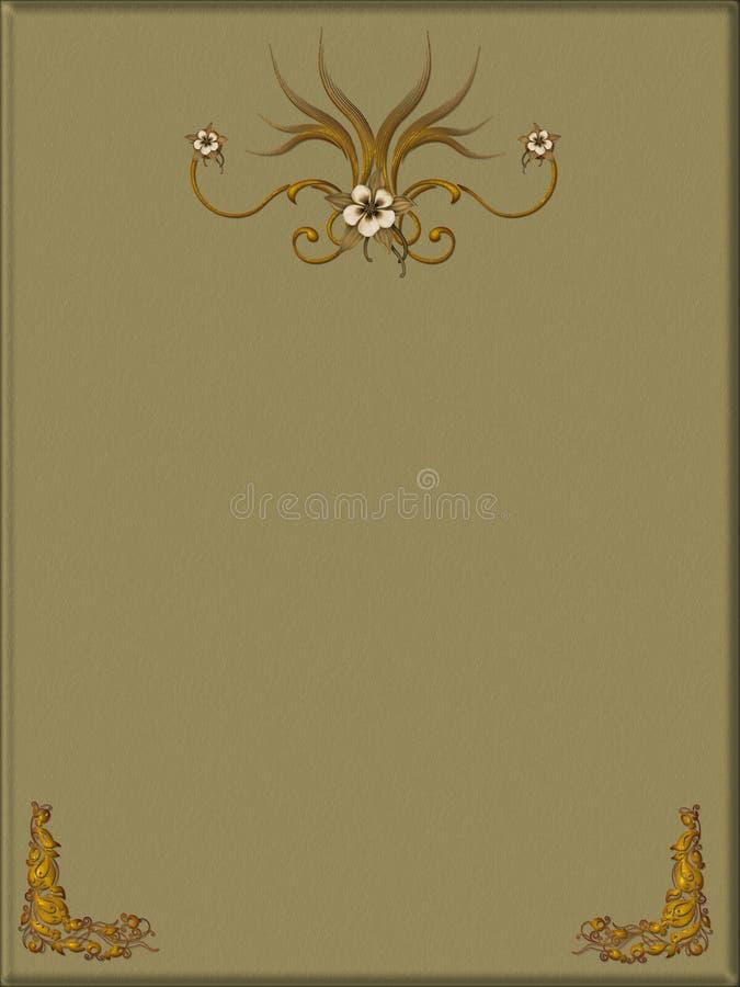 Papier décoré illustration stock