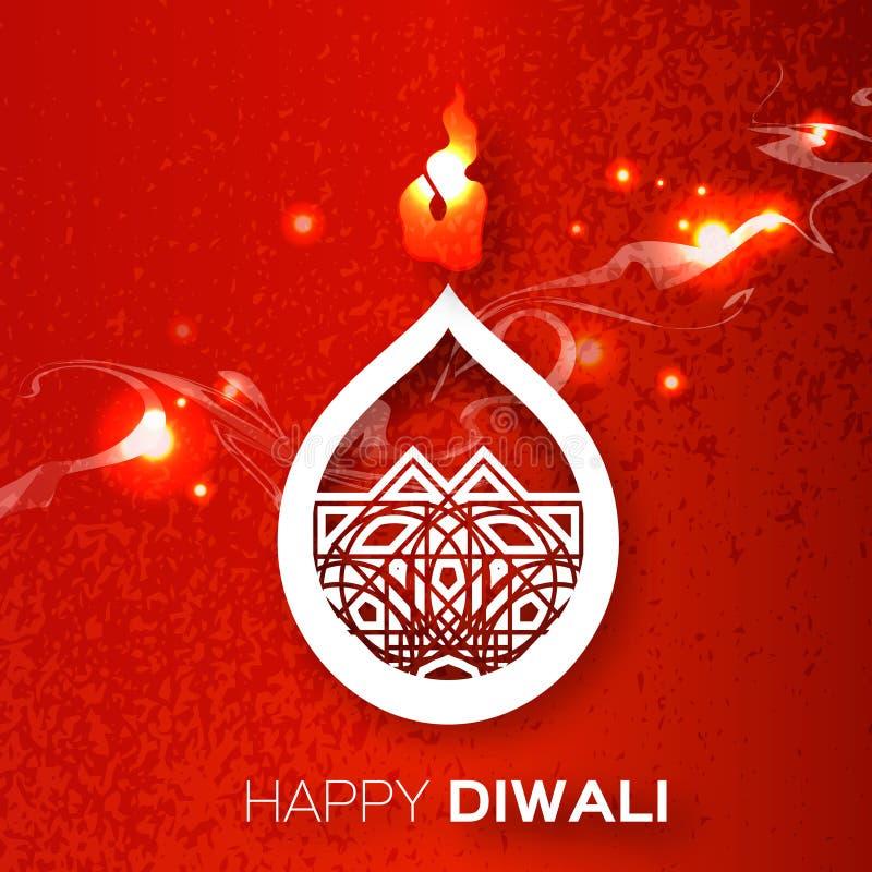 Papier décoratif Diwali Diya illustration libre de droits