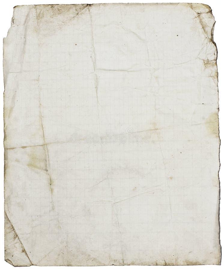 Papier d'école rayé fin-texturisé d'isolement photo libre de droits