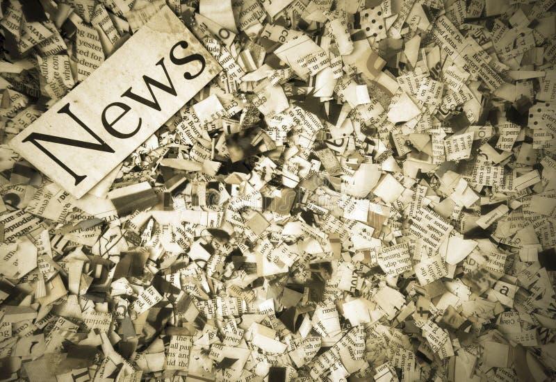 Papier d'actualités photos libres de droits